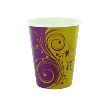 gobelet carton design imprime mauve