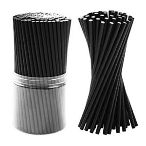 pailles papier noir