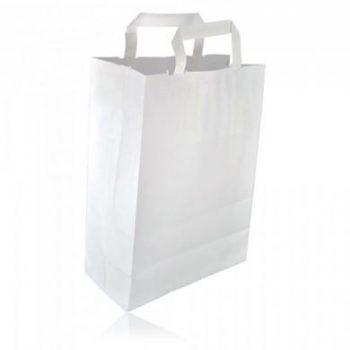 sacs cabas kraft blanc poign e plate 20x10x28 colis de 250 5787559