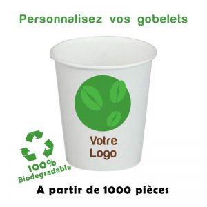 gobelets cartons personnalises biodegradables