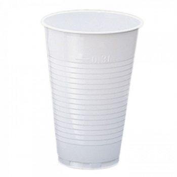 gobelet blanc opaque en plastique
